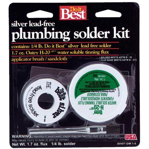 Do it Best Silver bearing lead-free 1/4 lb H-2095 water soluble tinning flux Solder Kit