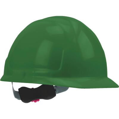 Safety Works Green Cap Style Wheel Ratchet Hard Hat