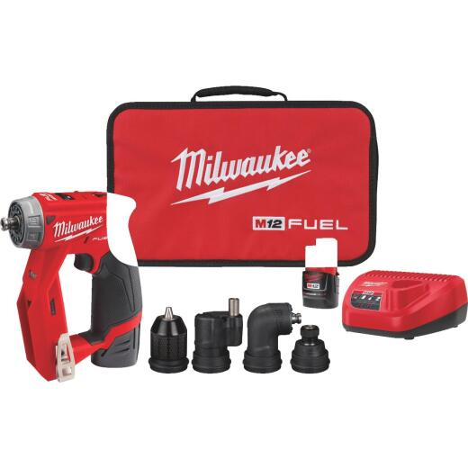 Milwaukee M12 FUEL Installation 12 Volt Lithium-Ion Brushless 3/8 In. Cordless Drill/Driver Kit