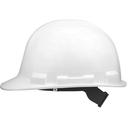 Safety Works White Cap Style Slip Ratchet Hard Hat