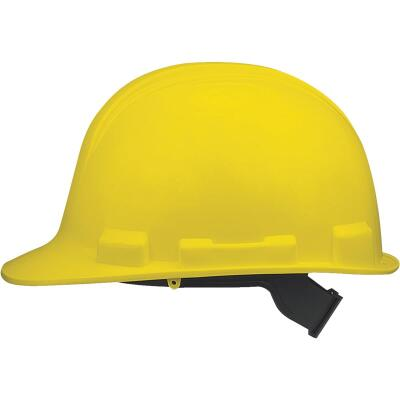 Safety Works Yellow Cap Style Slip Ratchet Hard Hat