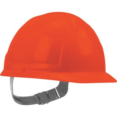 Safety Works Orange Cap Style Slip Ratchet Hard Hat