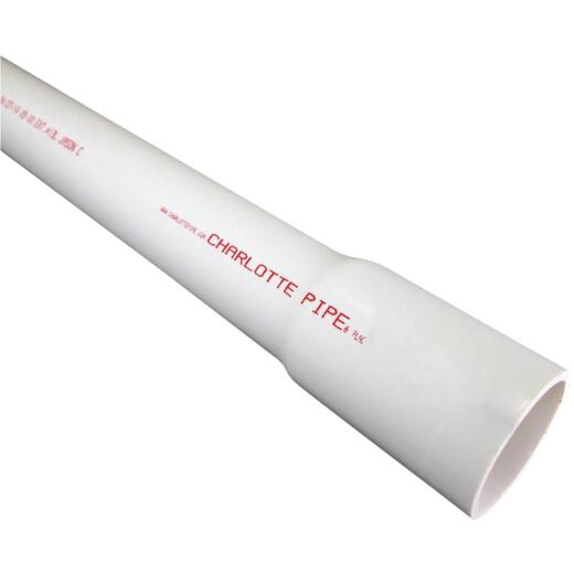 Charlotte Pipe 1 In. x 20 Ft. PVC Cold Water Pressure Schedule 40 Pipe, Belled End