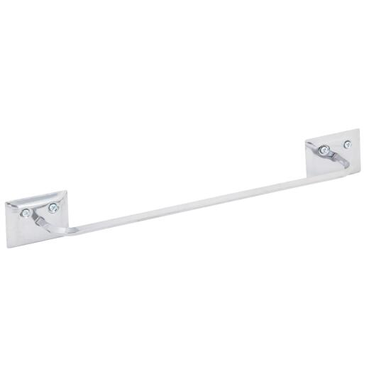 Decko Diamond Bar Design 12 In. Chrome Towel Bar