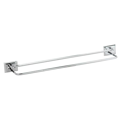 Decko Diamond Bar Design 18 In. Chrome Twin Towel Bar
