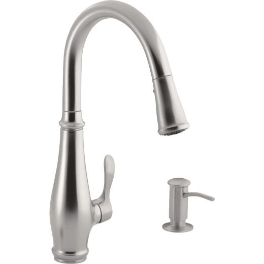 Kohler Cruette Single Handle Lever Pull-Down Kitchen Faucet, Stainless