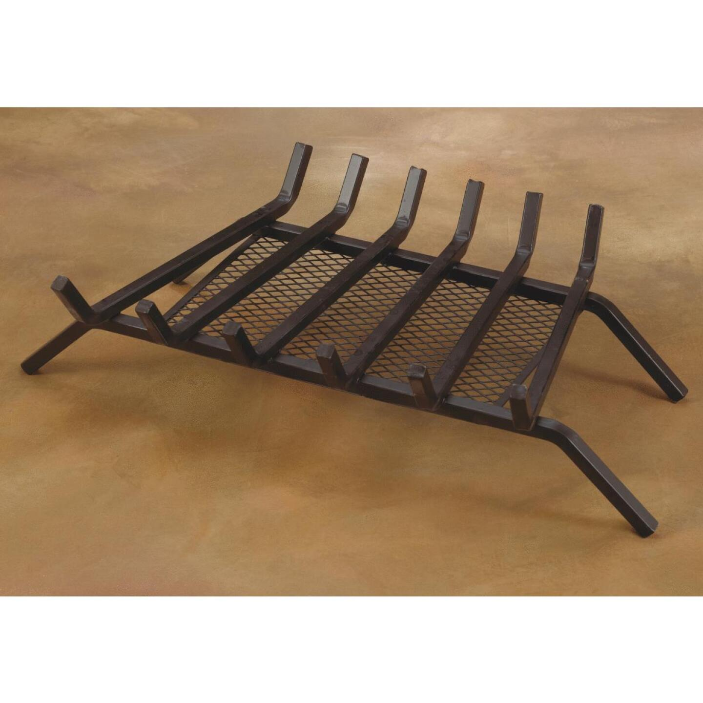 Home Impressions 27 In. Steel Fireplace Grate with Ember Screen Image 3