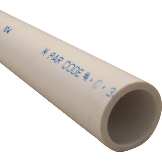 Charlotte Pipe 1-1/4 In. X 5 Ft. PVC Schedule 40 Cold Water Pressure Pipe