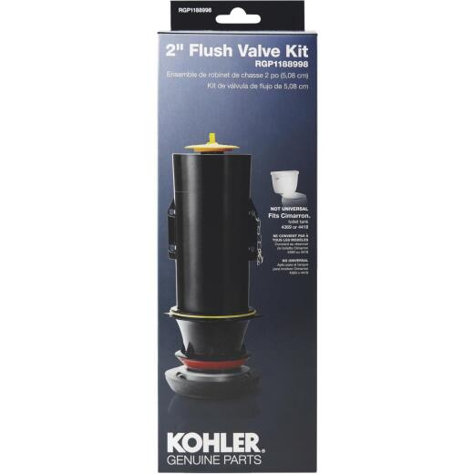 Kohler 2 In. Toilet Canister Flush Valve Repair Kit for Cimarron K-4418/K-4369 Toilets