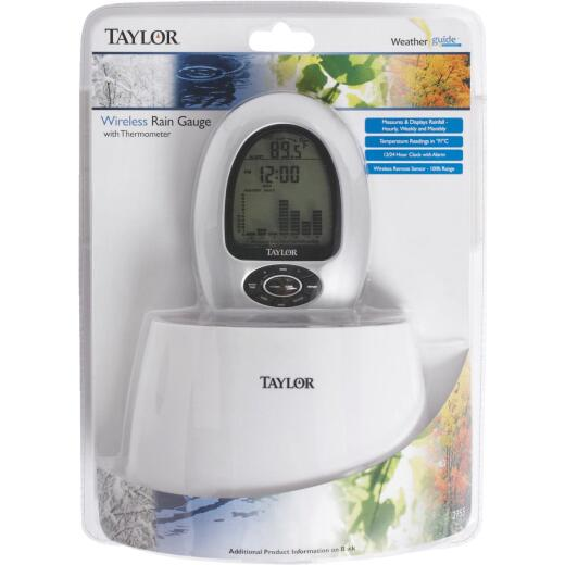 Taylor Wireless Rain Gauge & Thermometer